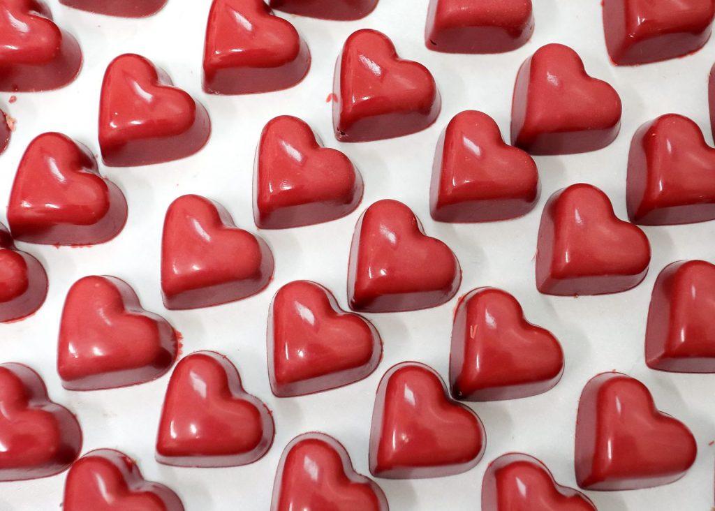 Bombones de corazón