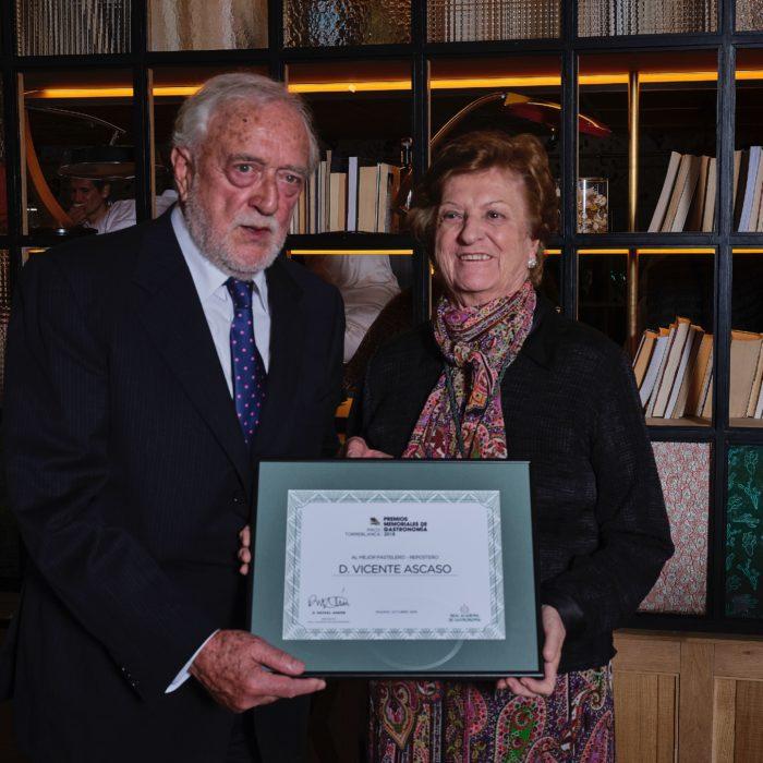 Vicente Ascaso, Premio Memorial de la Real Academia de Gastronomía al Mejor Pastelero Repostero